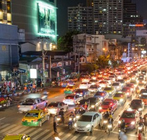 Traffic can be a real pain in Bangkok