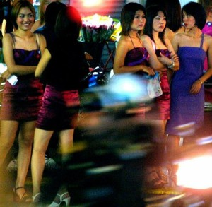 Thai hookers can be found near many Sukhumvit hotels.