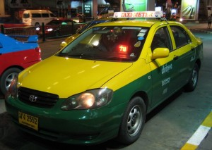 Taxis are cheap and plenty in Bangkok...