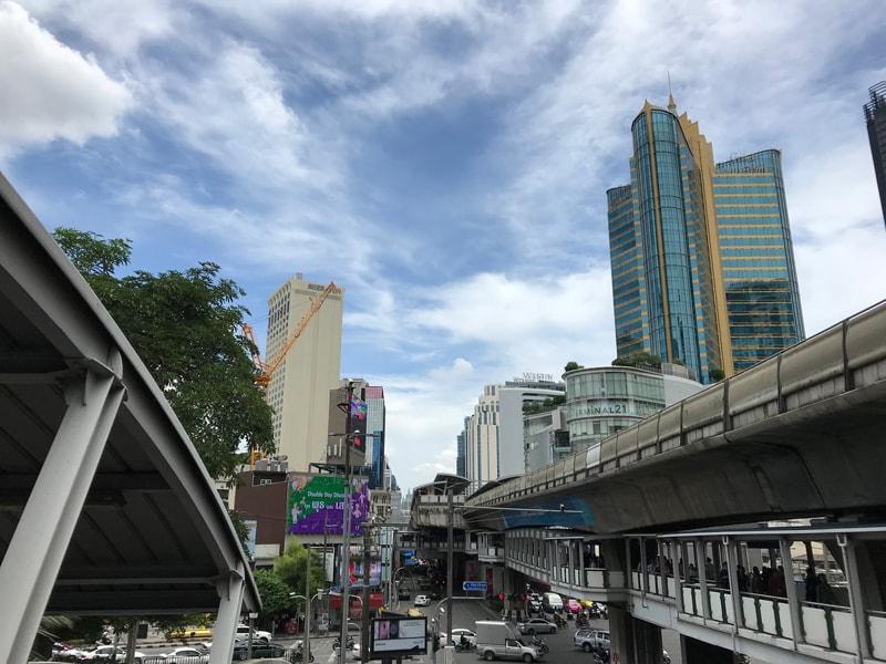 Sukhumvit and Asoke intersection in Bangkok